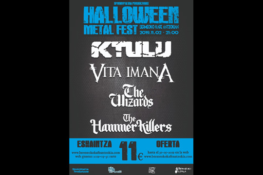 Halloween Metal Fest 2019: KTULU  + Vita Imana + The Wizards + The Hammer Killers